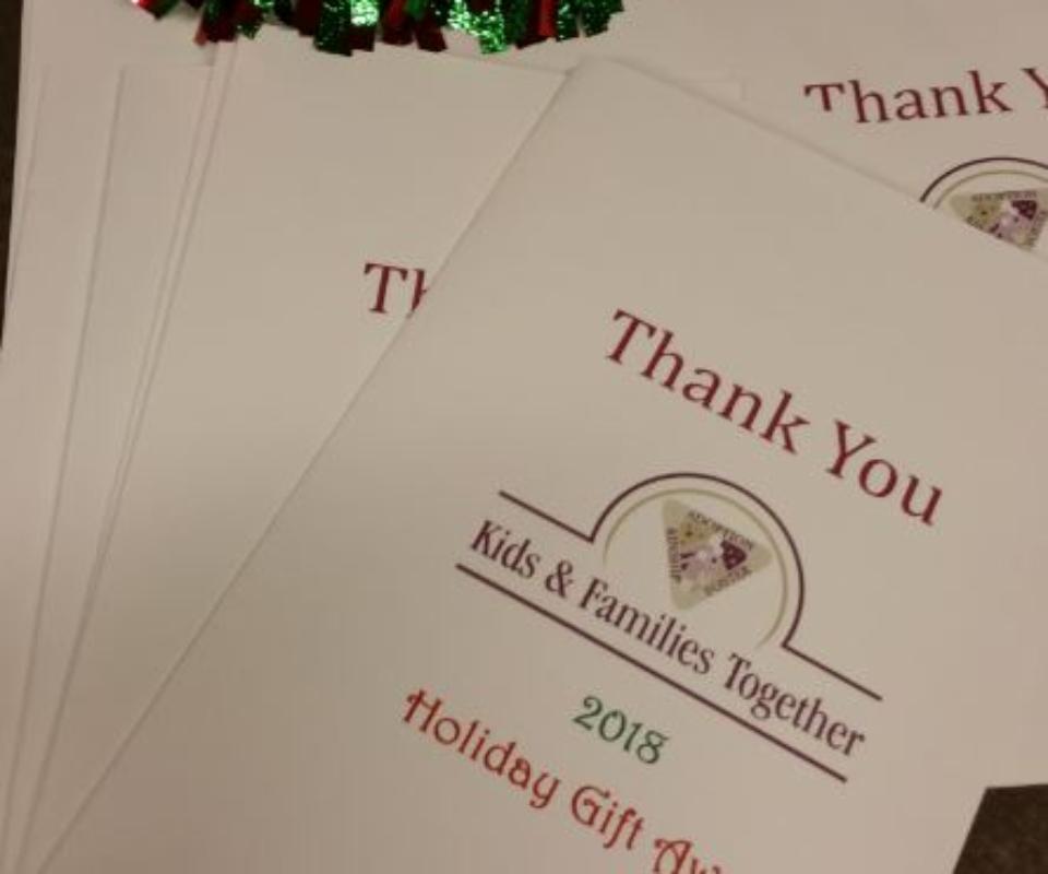 Gratitude Table Thank You Card